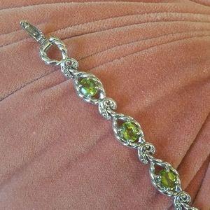 New Carolyn Pollack Sterling Peridot Bracelet